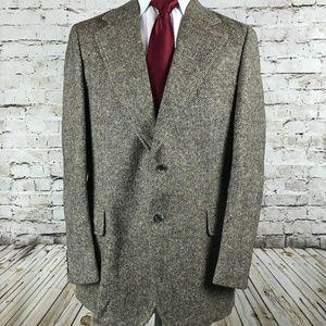 Paul Stuart Tweed Blazer Size 45 Tall Brown